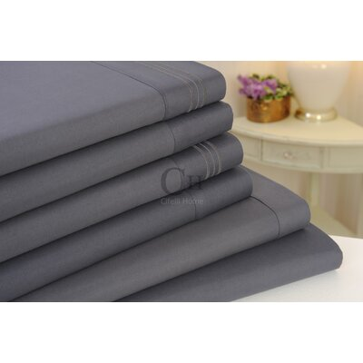 Madison Luxury Egyptian Touch 6 Piece Sheet Set Color: Slate Grey