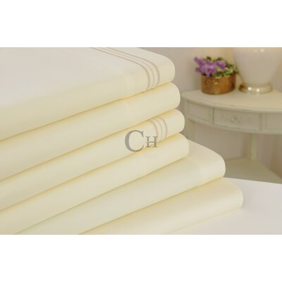 Madison Luxury Egyptian Touch 6 Piece Sheet Set Color: Ivory
