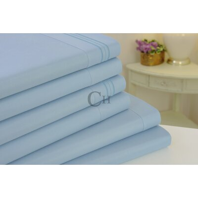 Madison Luxury Egyptian Touch 6 Piece Sheet Set Color: Light Blue