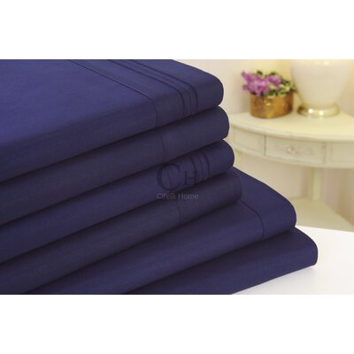 Madison Luxury Egyptian Touch 6 Piece Sheet Set Color: Navy Blue