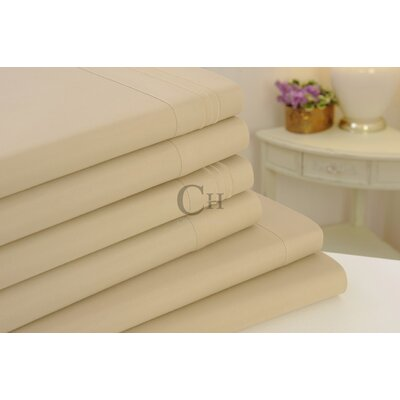 Madison Luxury Egyptian Touch 6 Piece Sheet Set Color: Tan