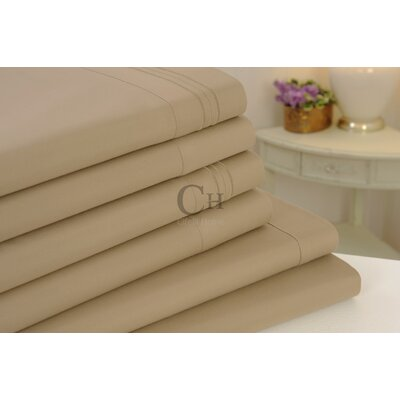 Madison Luxury Egyptian Touch 6 Piece Sheet Set Color: Taupe