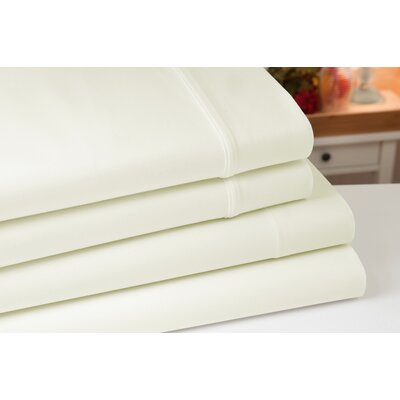 Greenburgh 200 Thread Count 100% Organic Cotton Sheet Set Color: Ivory, Size: Queen