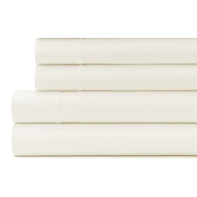 Greenburgh 200 Thread Count Organic Cotton Sheet Set Size: Twin, Color: Ivory