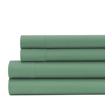 Greenburgh 200 Thread Count Organic Cotton Sheet Set Size: Twin, Color: Sage Green