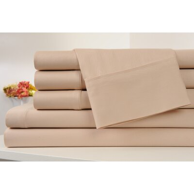 Kendele 400 Thread Count 100% Cotton Sheet Set Size: King, Color: Khaki Beige