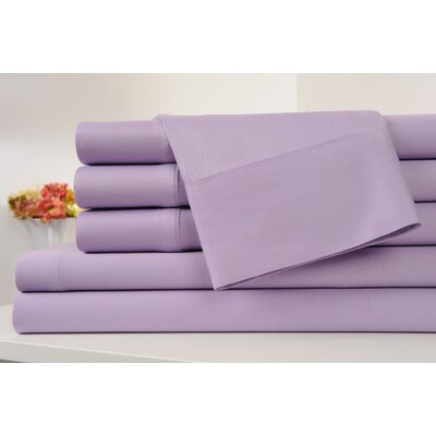 Kendele 400 Thread Count 100% Cotton Sheet Set Size: Full, Color: Lilac