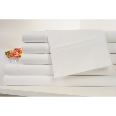 Kendele 400 Thread Count 100% Cotton Sheet Set Size: Full, Color: White
