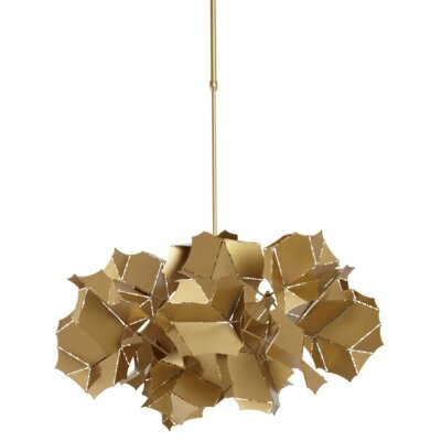 Cumulus 1-Light Geometric Pendant Size: 75.6 H x 25 W x 26.1 D, Finish: Satin Aqua