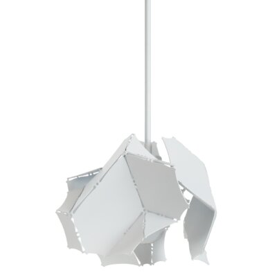 Croxton 1-Light Mini Pendant Finish: Satin White, Size: 53.8 H x 11.1 W x 11.1 D