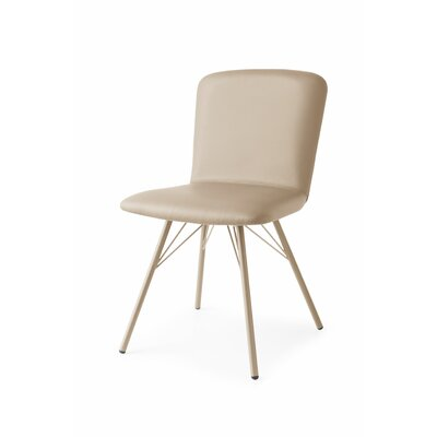 Emma Upholstered Side Chair Upholstery: Skuba Gray, Finish: Matt Taupe
