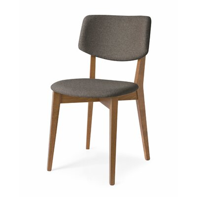 Robin Upholstered Wooden Side Chair Finish: Walnut, Upholstery: Taupe