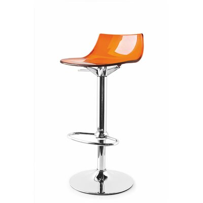 Led Adjustable Height Swivel Bar Stool Finish: Orange