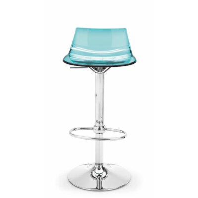 Led Adjustable Height Swivel Bar Stool Finish: Aquamarine