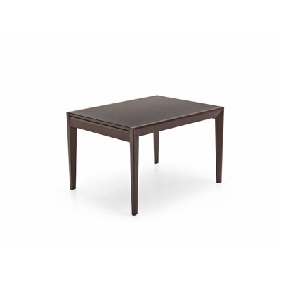 Abaco Extendable Dining Table Base Finish: Wenge, Top Finish: Frosted Coffee