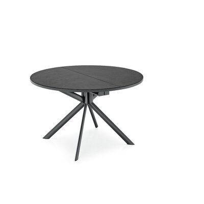 Giove Round Extendable Dining Table Base Finish: Matt Gray, Top Finish: Stone Gray