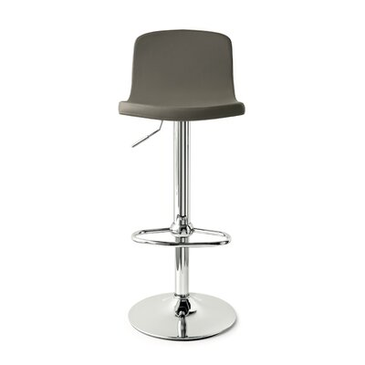 Joe Adjustable Height Swivel Bar Stool Upholstery: Ekos Taupe