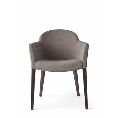 Gossip Upholstered Dining Chair Upholstery Color: Denver Taupe, Leg Color: Wenge