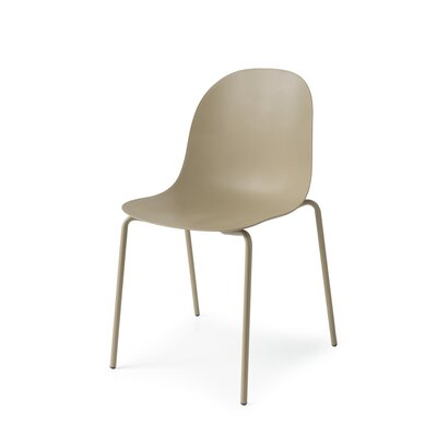 Academy 4 Leg Tubular Base Side Chair Finish: Matt Gray
