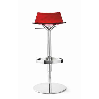 Ice Adjustable Height Swivel Bar Stool Finish: Transparent