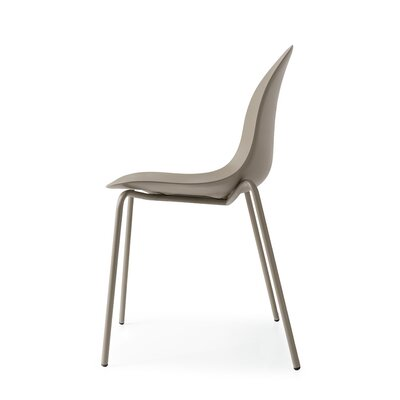 Academy 4 Leg Tubular Base Side Chair Finish: Matt Taupe