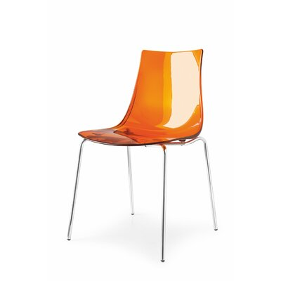 Led Side Chair Finish: Orange