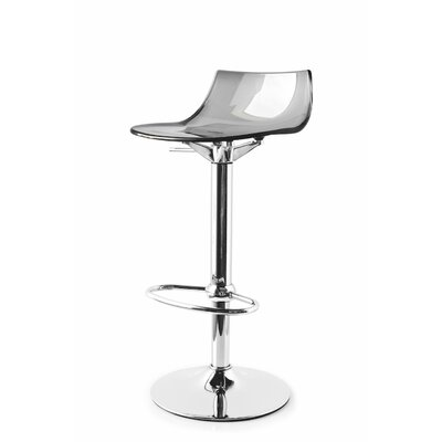 Led Adjustable Height Swivel Bar Stool Finish: Smoke Gray