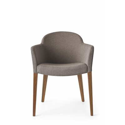 Gossip Upholstered Dining Chair Upholstery Color: Denver Taupe, Leg Color: Walnut