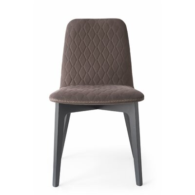 Sami Upholstered Wooden Side Chair Finish: Walnut
