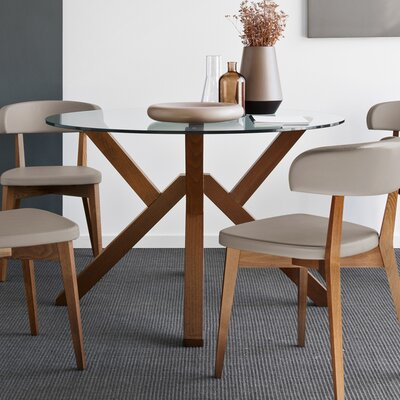 Mikado Dining Table Base Color: Walnut