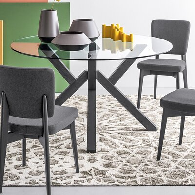 Mikado Round Dining Table Finish: Graphite