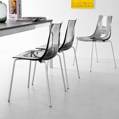 Led Side Chair Finish: Smoke Gray
