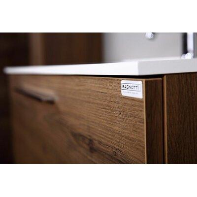 Marki 63 Double Bathroom Vanity Set with Mirror Base Finish: Matte Walnut