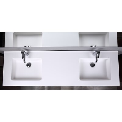 Millman 63 Double Bathroom Vanity with Mirror