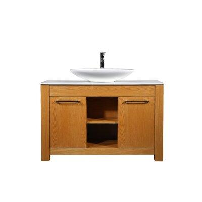 Riemer 48 Single Bathroom Vanity Set with Mirror Base Finish: Veneer Oak