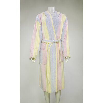 Authentic Turkish Hooded Bathrobe Size: Medium, Color: Multicolor