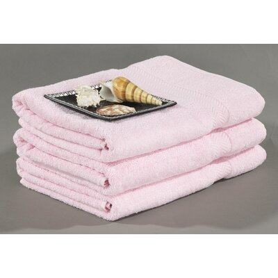 Cotton Dobby Bath Towel Color: Pink