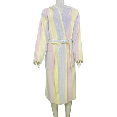 Authentic Turkish Hooded Bathrobe Size: Large, Color: Multicolor