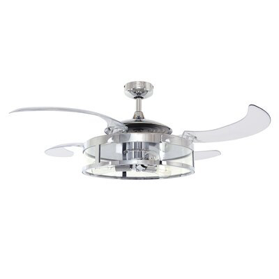 48 Classic 4 Blade Ceiling Fan Finish: Chrome