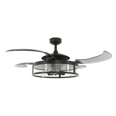 48 Servantes 4 Blade Ceiling Fan Finish: Antique Black