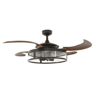 48 Servantes 4 Blade Ceiling Fan Finish: Oil Rubbed Bronze