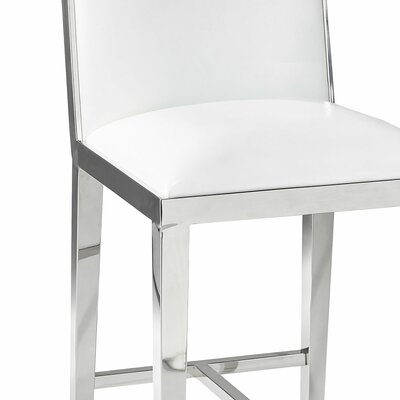 Kephart 29.3 Bar Stool Upholstery: Leather-White