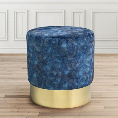 Romona Round Ottoman Finish: Gold