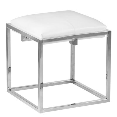 Nixon Cube Ottoman Finish: Steel