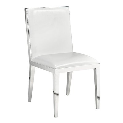 Kephart Side Chair Upholstery: Leather - White
