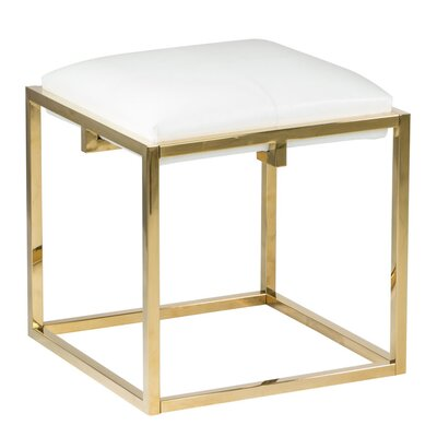 Nixon Cube Ottoman Finish: Gold
