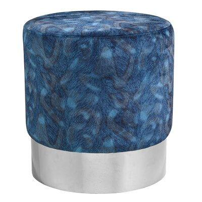 Romona Round Ottoman Finish: Steel