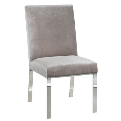 Almodovar Modern Premium Side Chair Color: Leather - White