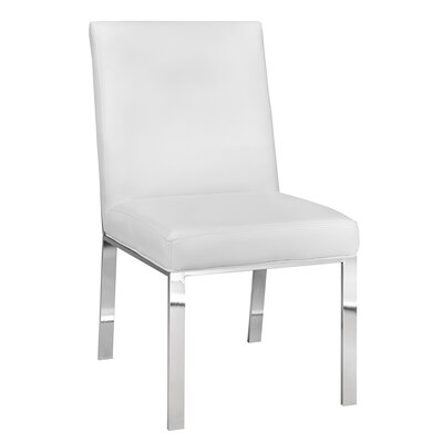 Almodovar Modern Premium Side Chair Color: Velvet - Gray