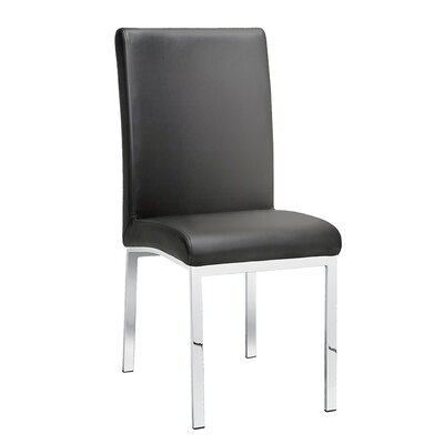 Rocco Side Chair Upholstery: Leather - Gray